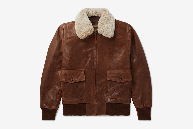 Westwood Shearling-Trimmed Leather Jacket