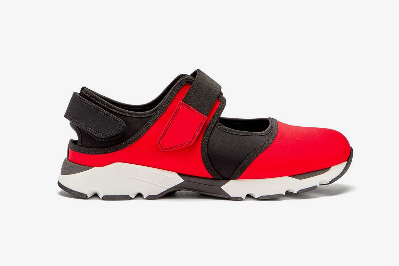 Velcro-Strap Neoprene Sneakers