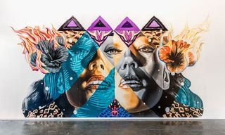 Kamea Hadar and Tristan Eaton 'Pele, Maila, Hina' Los Angeles Installation