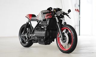 The BMW K1100 & Matching E-Bike Get a Wild Graphic Treatment