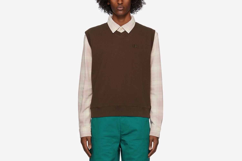 Fleece Leaf Vest