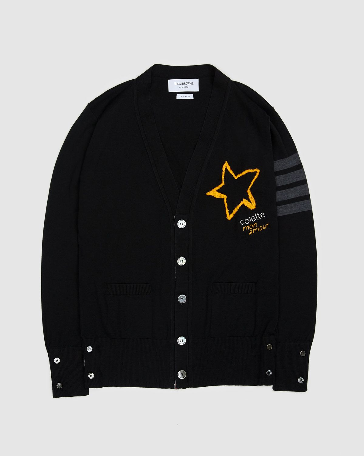 Colette Mon Amour x Thom Browne — Black Star Cardigan - Image 1