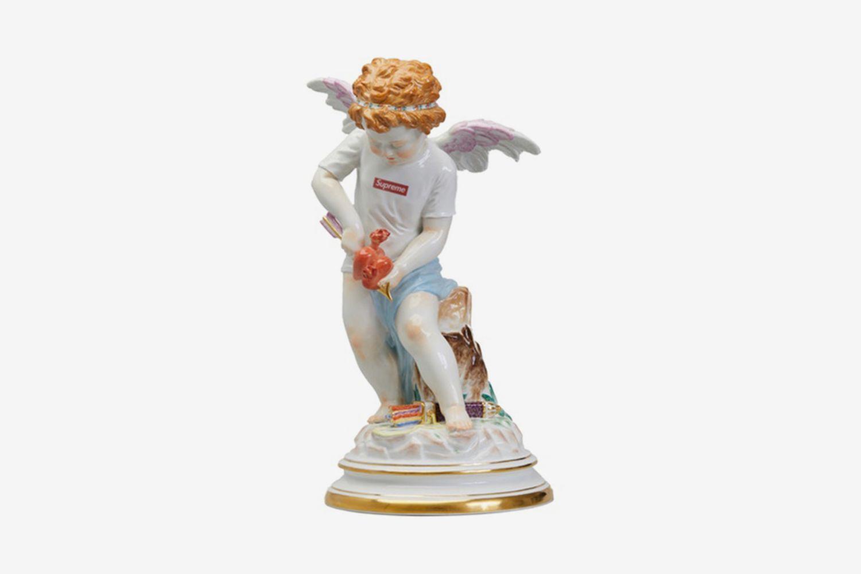 Meissen Hand-Painted Porcelain Cupid Figurine