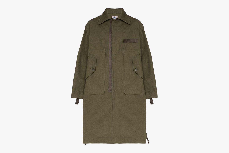 Pocket Detail Parka Coat