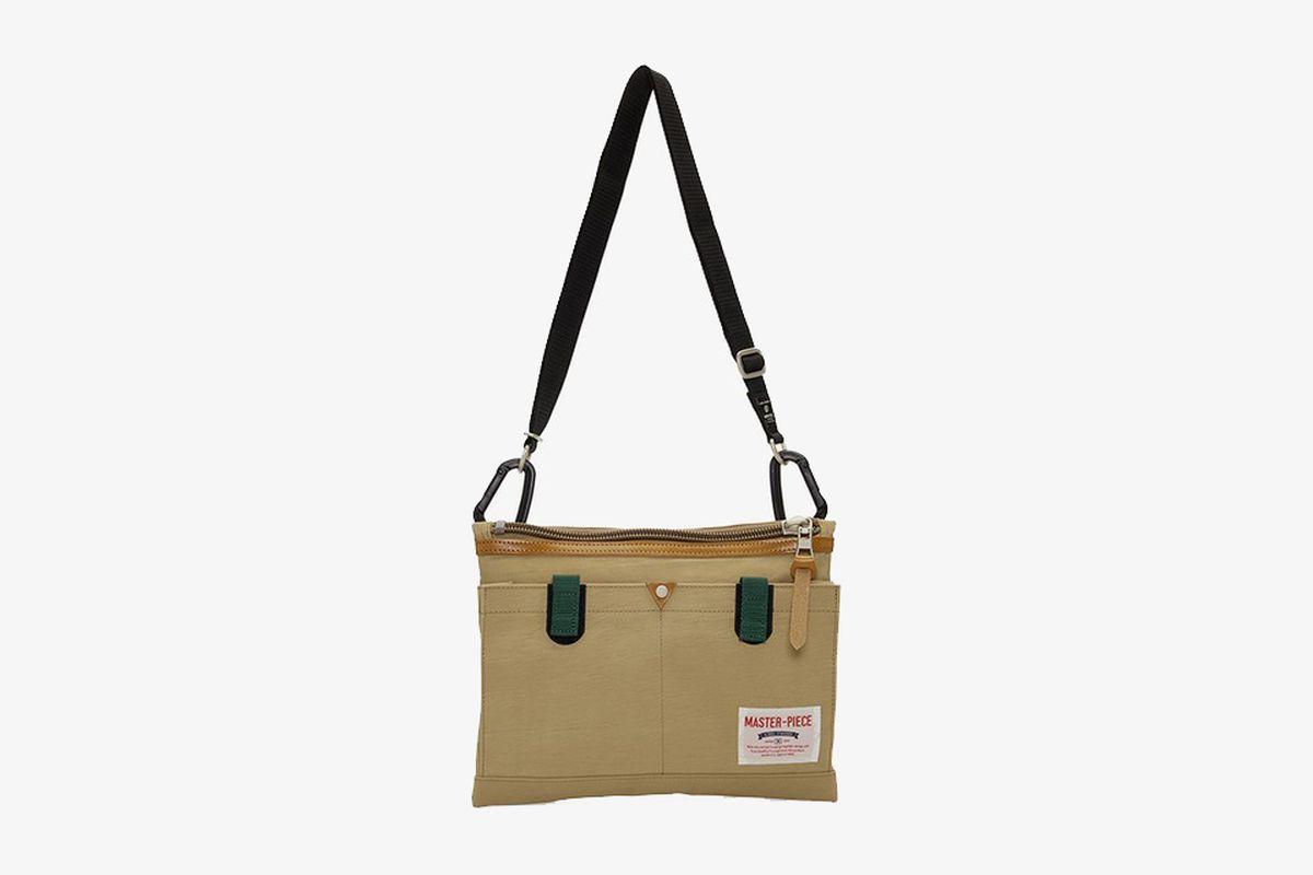 Beige Link Messenger Bag