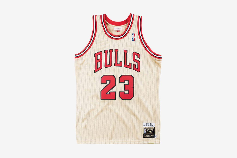 Premium Gold Jersey Chicago Bulls 1995-96 Michael Jordan