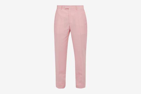 Side-Stripe Slim-Leg Trousers
