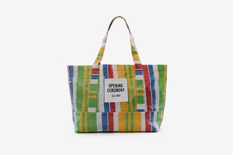 Striped Tote Bag Medium