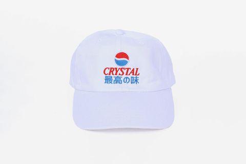 Crystal Pepsi 6 Panel Cap