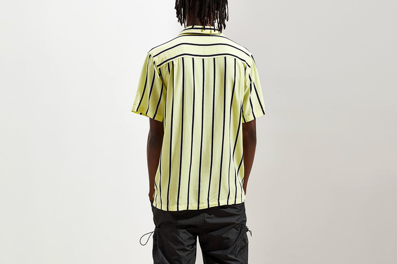Sport Striped Rayon Short Sleeve Button-Down Shirt