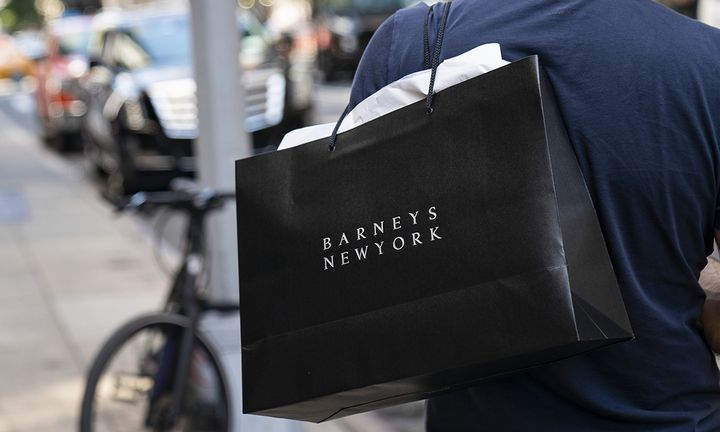 Barneys New York black shopping bag