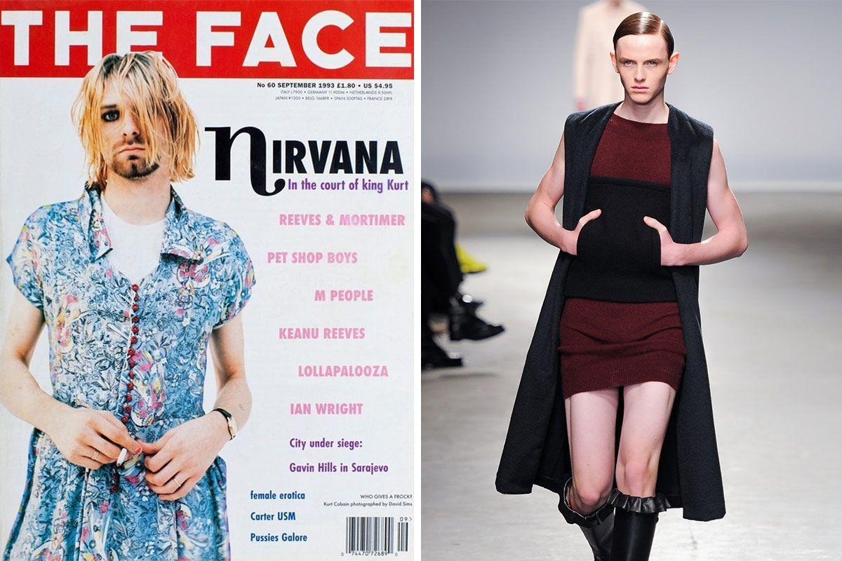 0b290fe47362 10 Current Fashion Trends That Kurt Cobain Did First