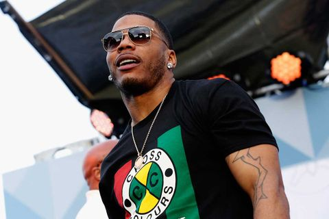 Nelly performs on stage