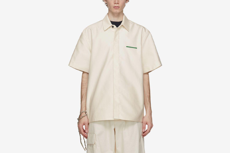Poplin Pin Short Sleeve Shirt