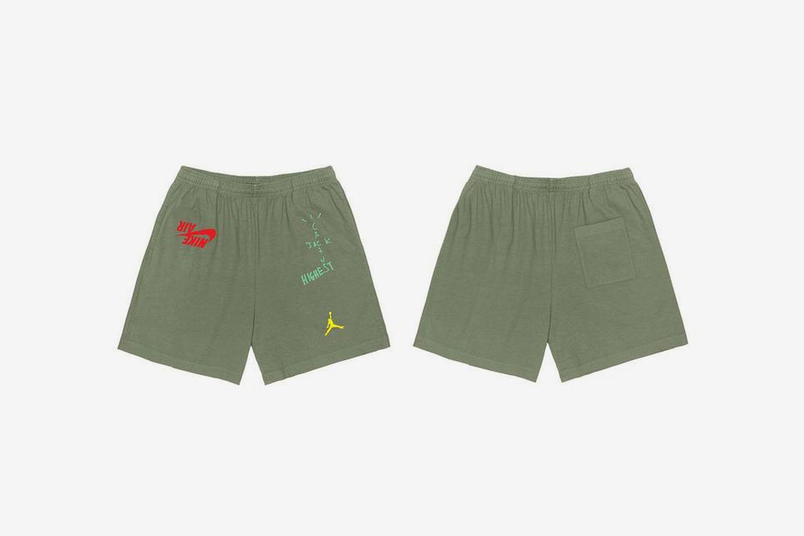 "Travis Scott Jordan Brand ""Highest in the Room"" green shorts"