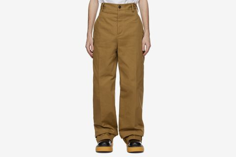 Tan Cotton Twill Trousers