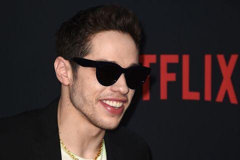 Pete Davidson sunglasses smiling
