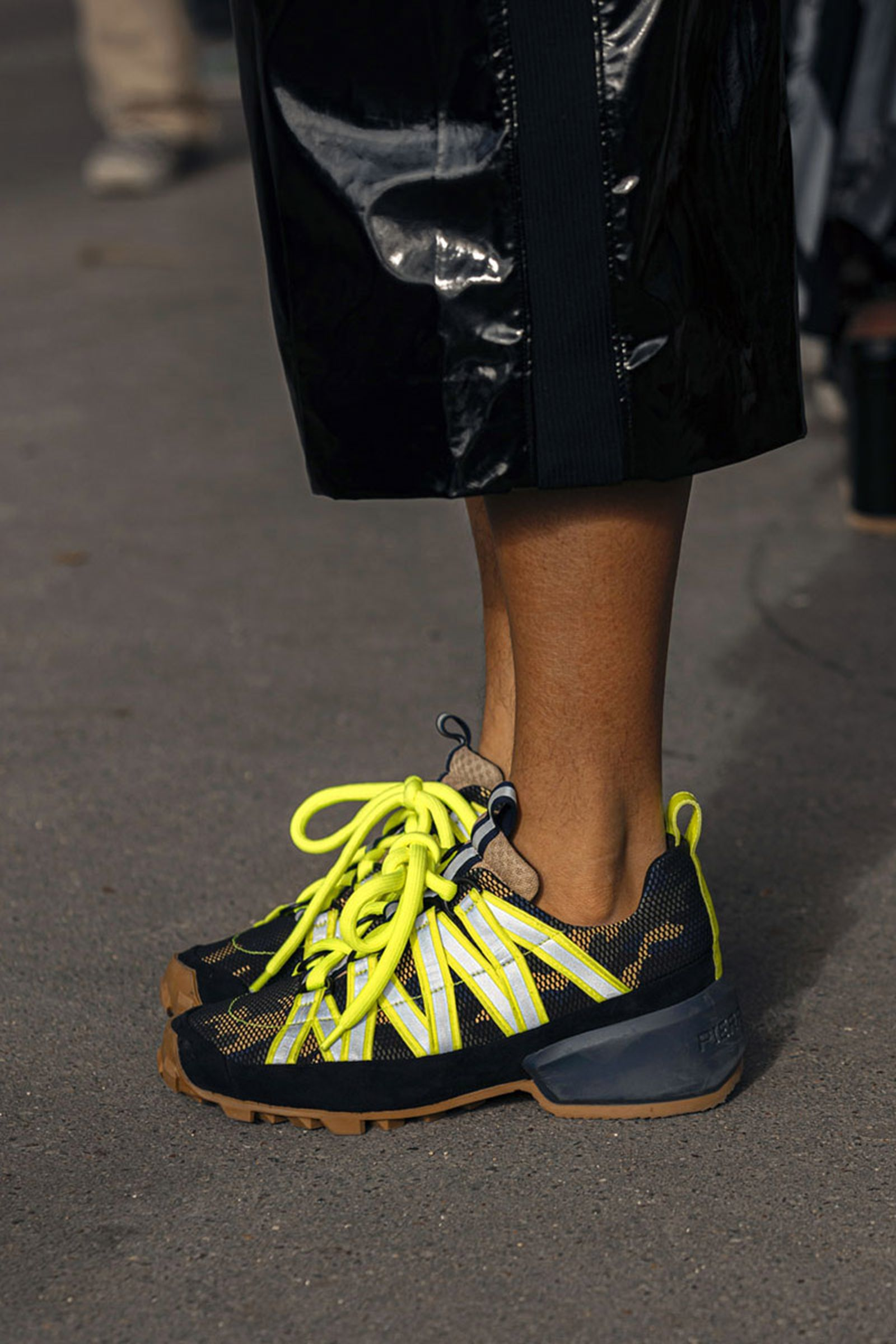paris fashion week womens ss20 sneaker street style prada