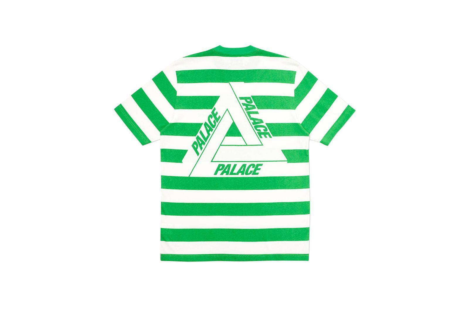 Palace 2019 Autumn T Shirt Heavy Stripe green back
