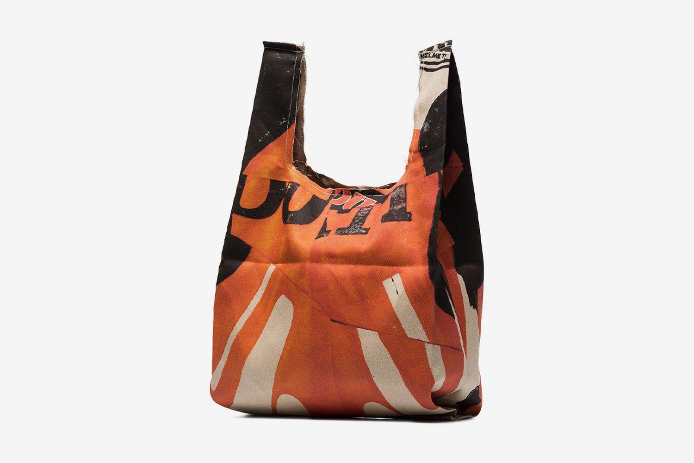 Biker Print Grocery Bag