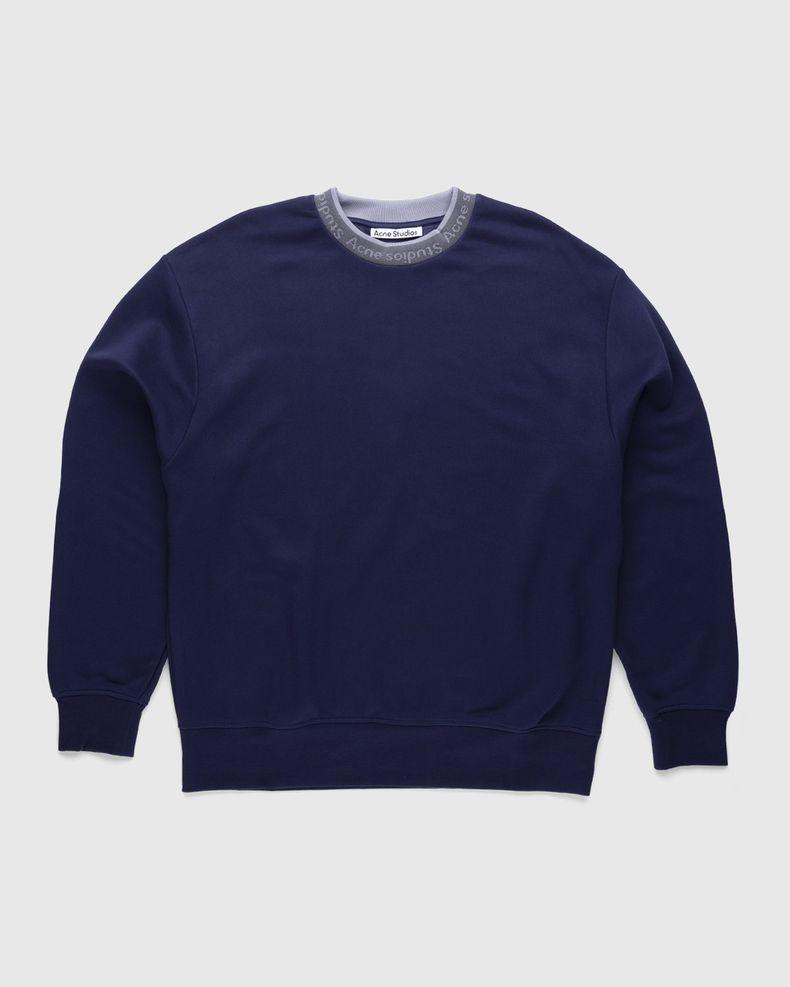 Acne Studios – Logo Rib Sweatshirt Indigo Blue