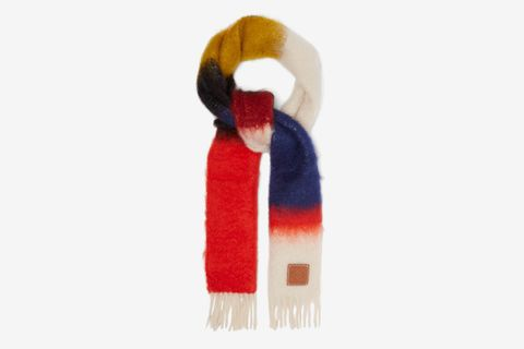 Anagram Logo-patch Mohair-blend Scarf