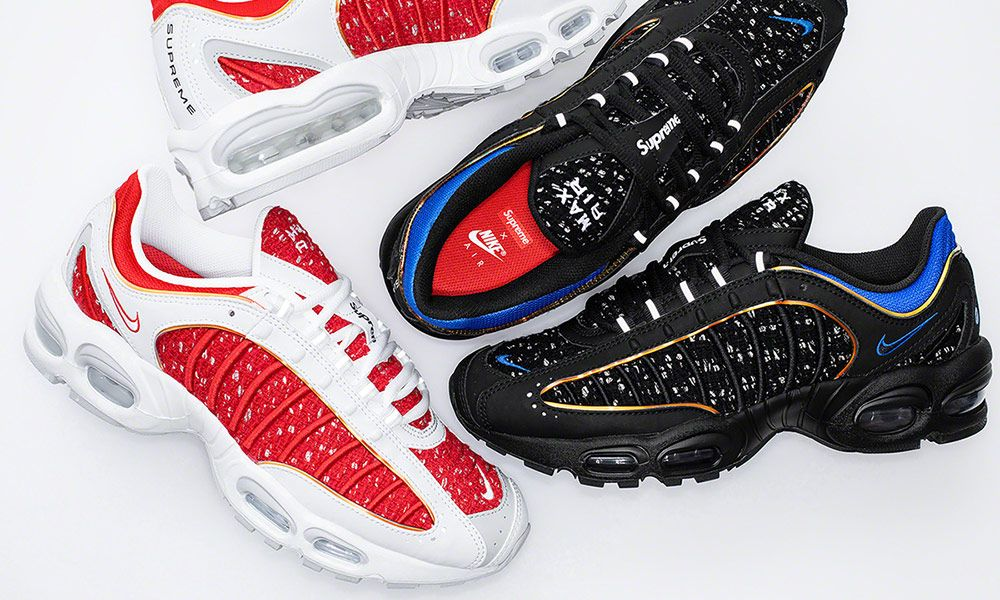 sports shoes 70b64 8ce38 Supreme x Nike Air Max Tailwind 4: Where to Buy Today