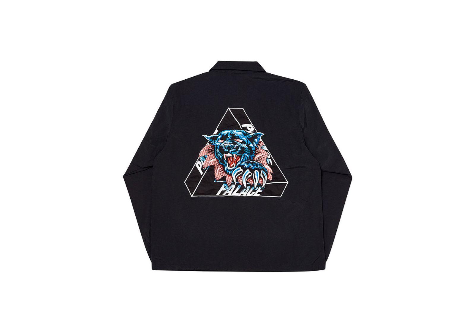 Palace 2019 Autumn Jacket Ripped Coach black back fw19
