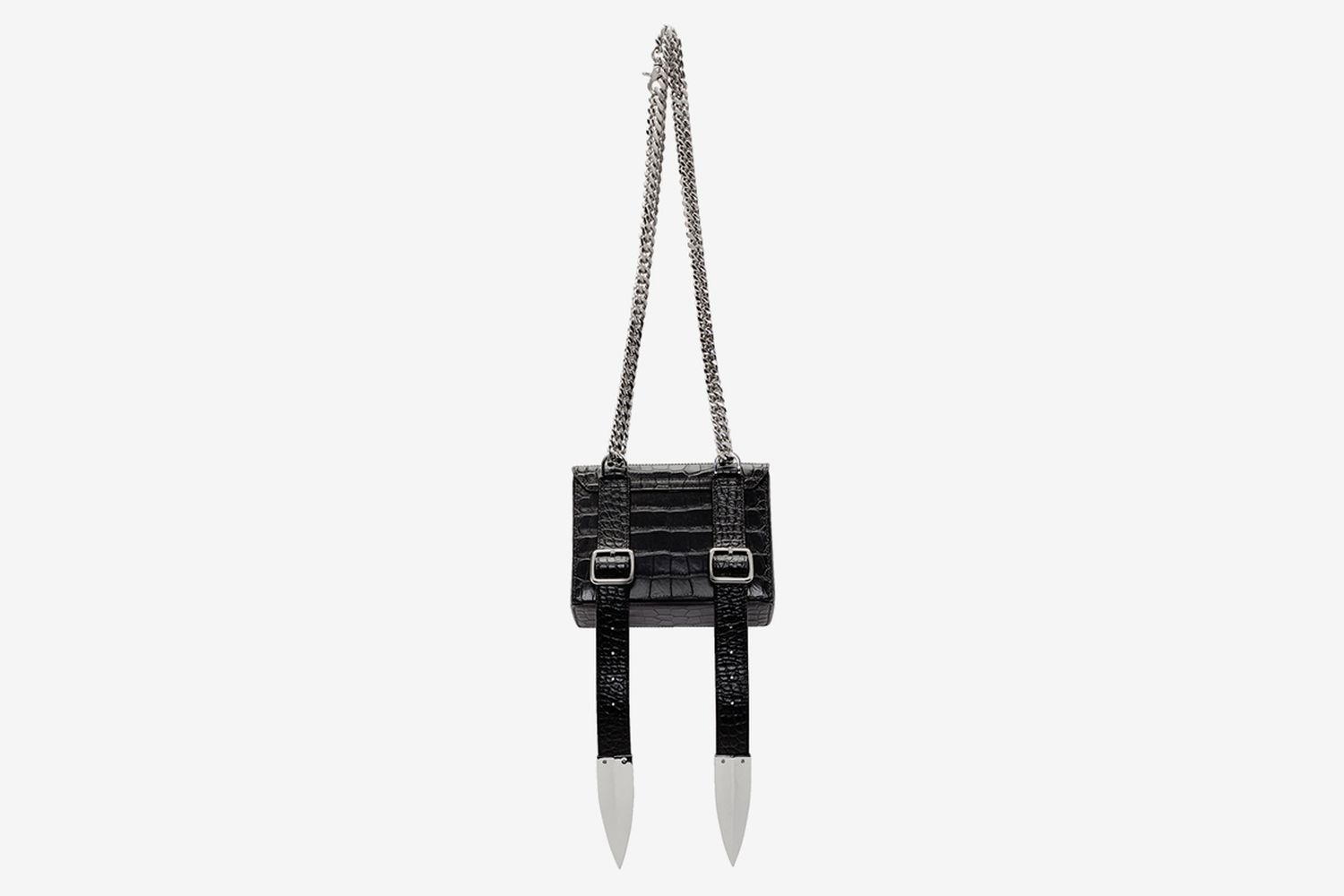 Croc Leather Shoulder Bag