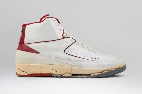 new concept a3cd4 10317 Nike Air Jordan 2 White Red