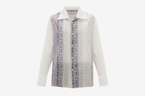 Soul Shirt Hippie Paisley-Print Cotton Shirt