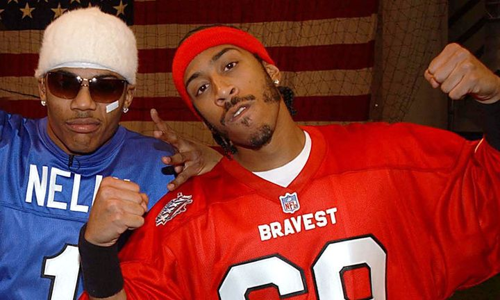 Nelly & Ludacris during Super Bowl XXXVI