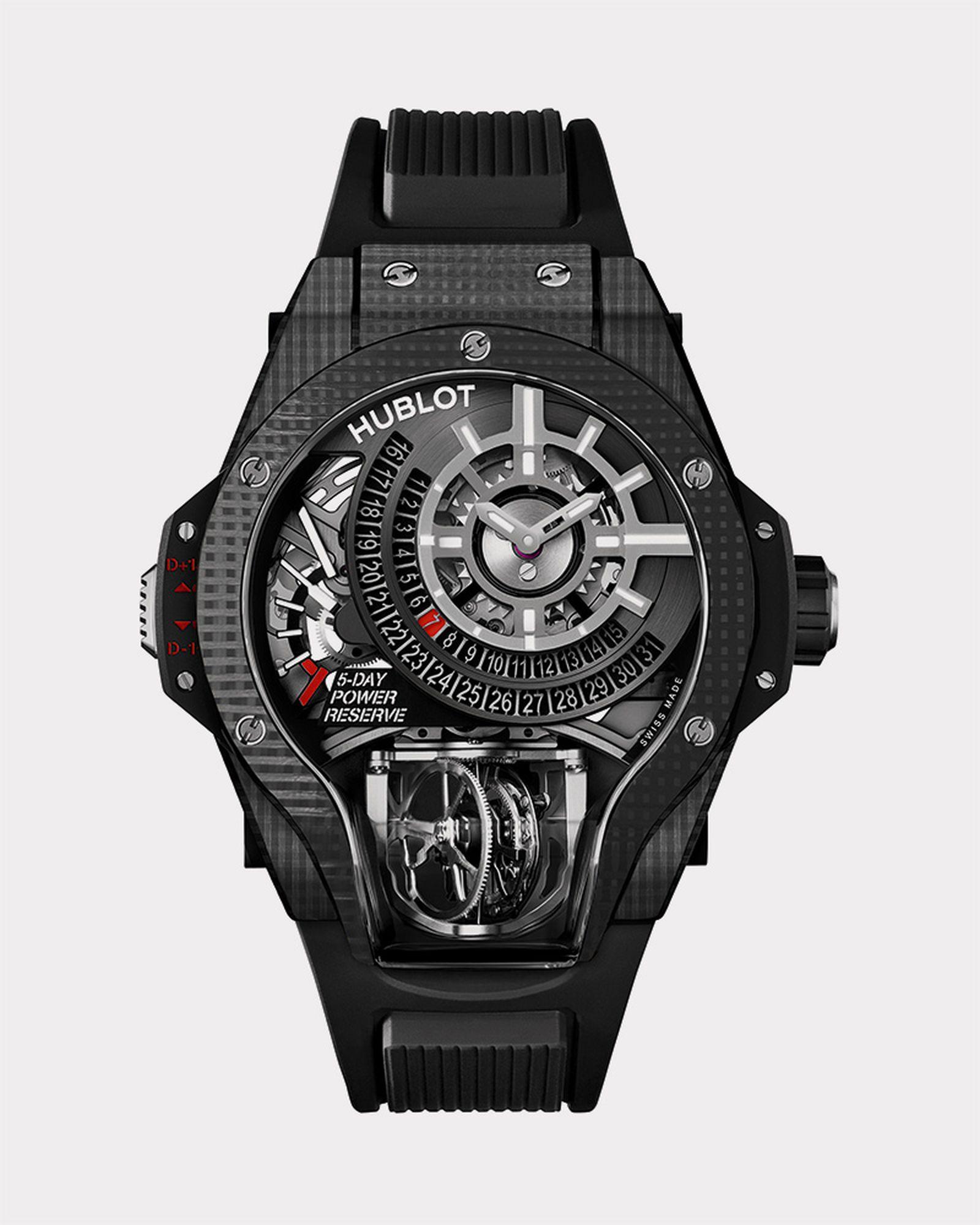 Hublot MP-09 Tourbillon Bi-Axis 3D Carbon watch. Limited edition 50 pieces. $190,000.