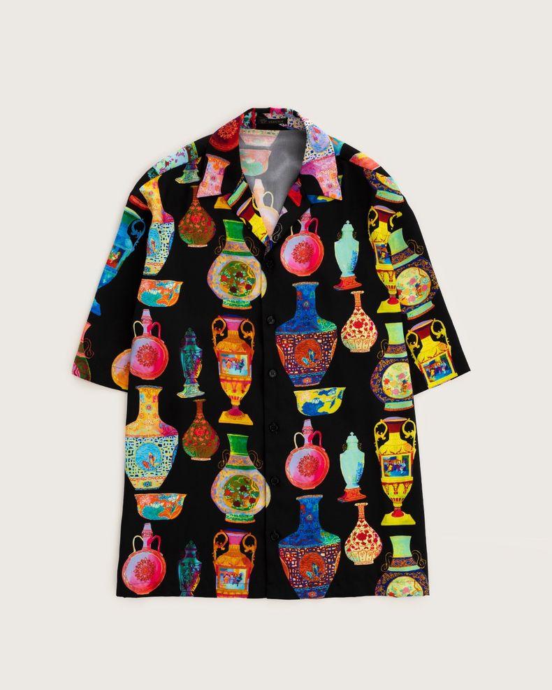 Versace —  Short Shirt Black—Multicolour