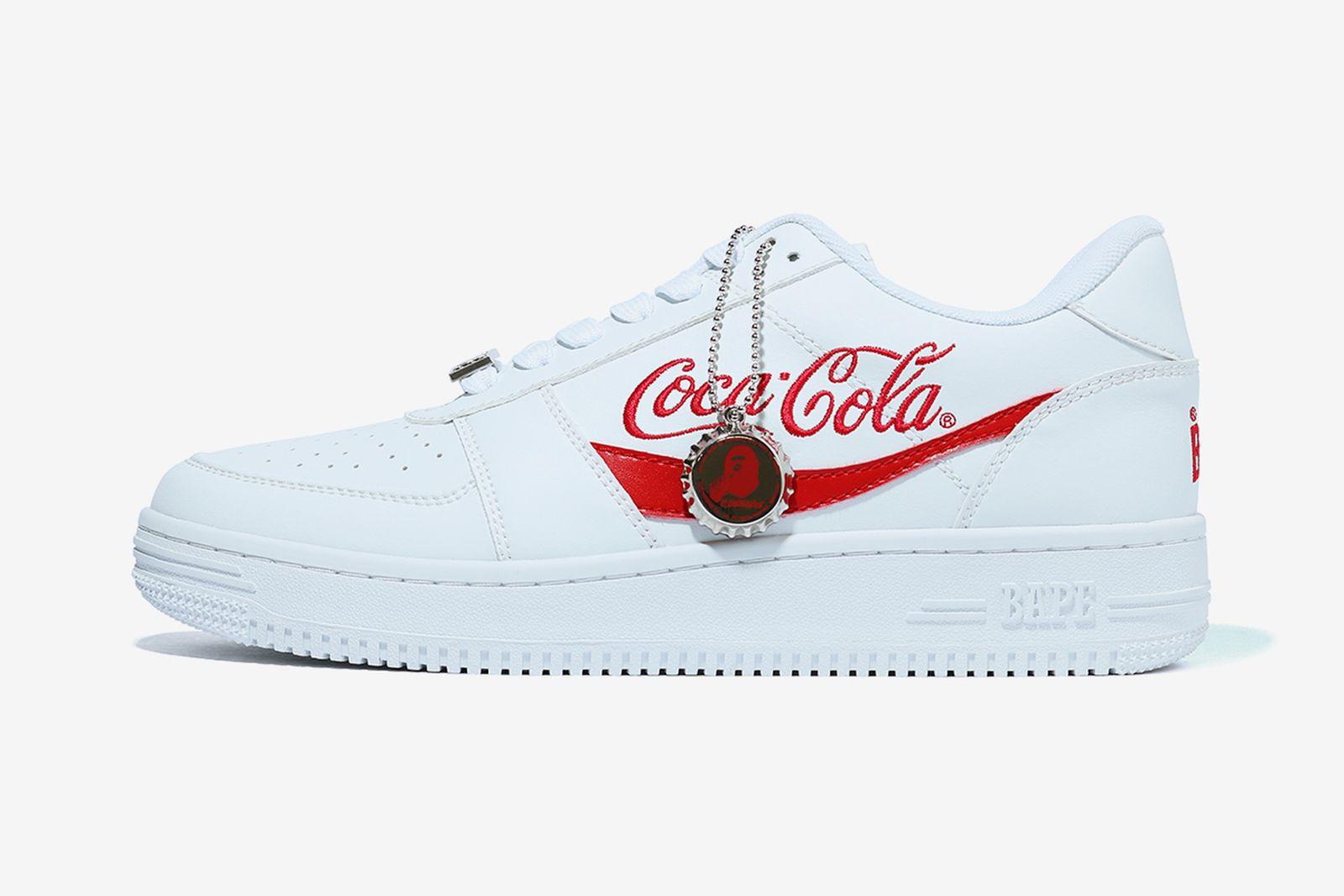 bapesta coca-cola white product shot