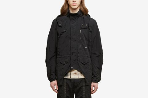 Cut-Out Nylon Jacket