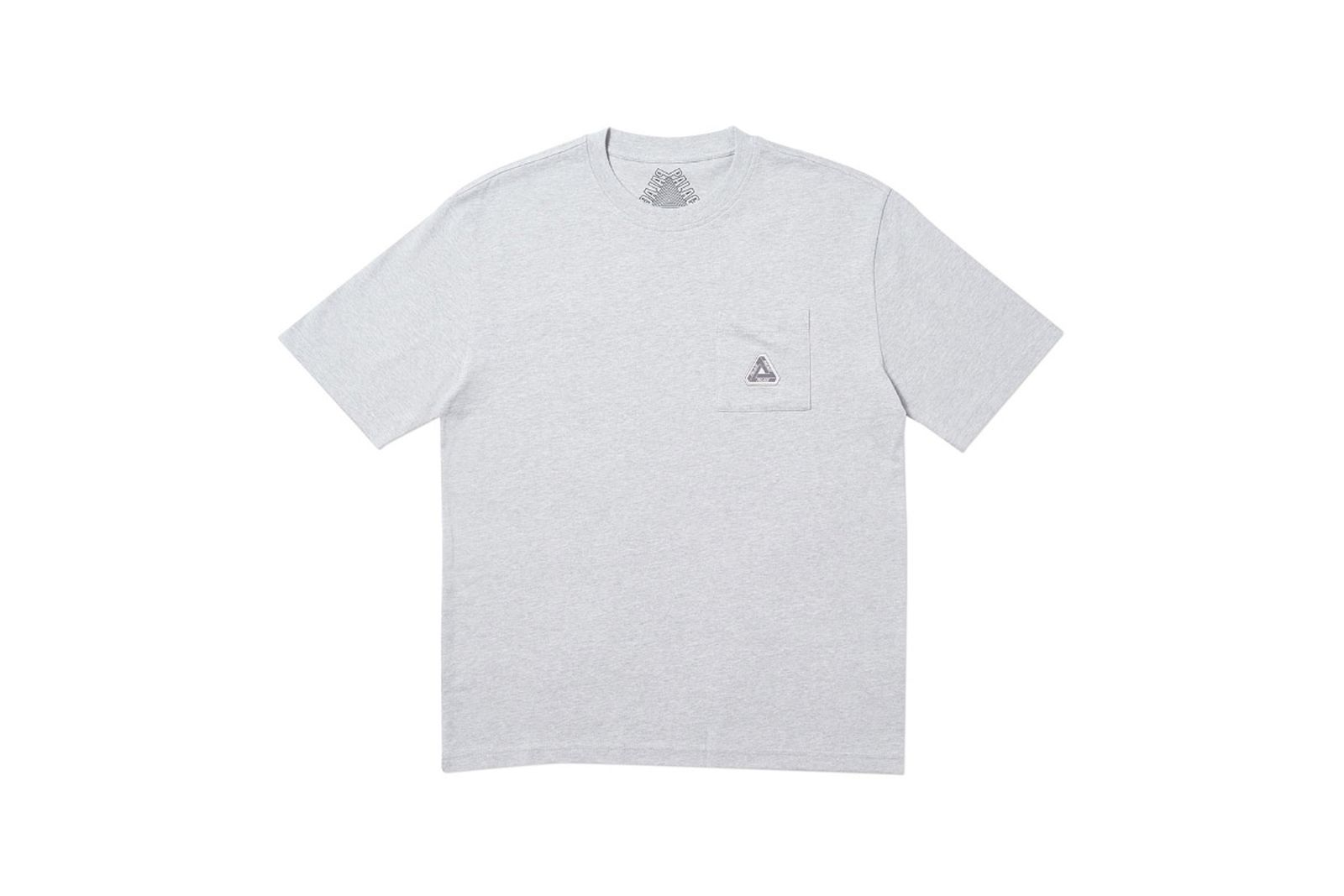 Palace 2019 Autumn T Shirt Pocket grey marl