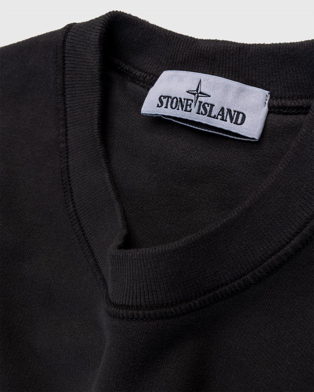 Stone Island – Geelong Wool Crewneck Charcoal - Image 3