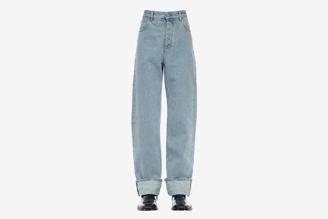 Bleached Cotton Denim Jeans