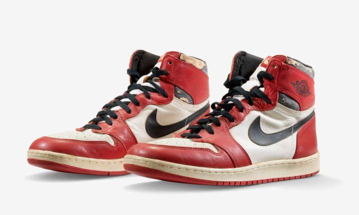 Nike Air Jordan 1 1985 game worn product shot