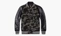 Mr.BATHING APE Tweed Camo Varsity Jack