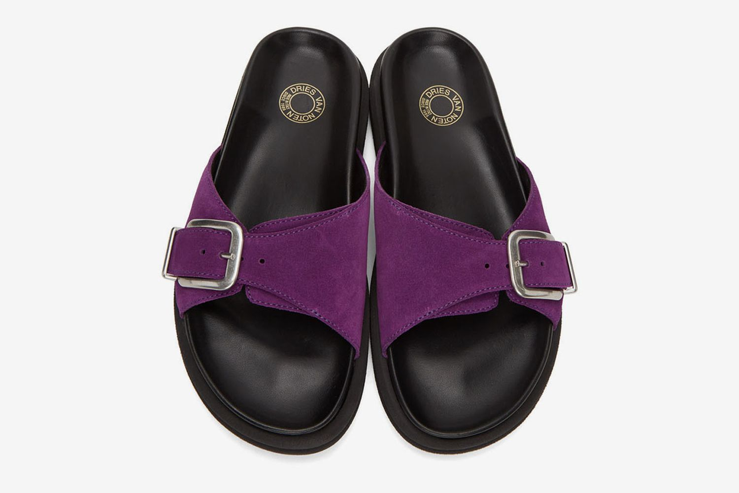 Suede Slip-On Sandals