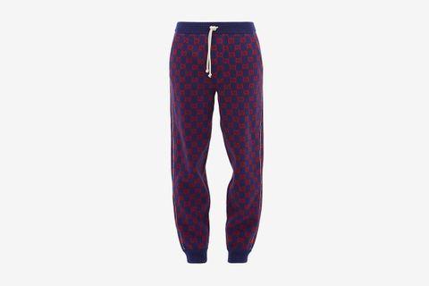 GG Wool-Blend Track Pants
