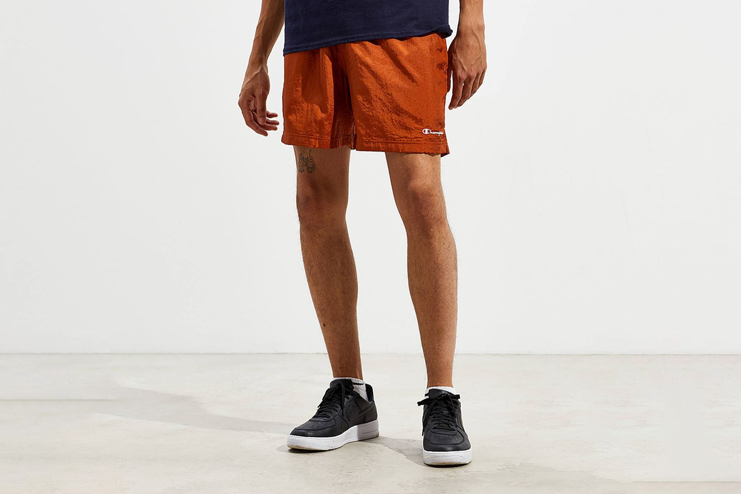 Nylon Brown Volley Short