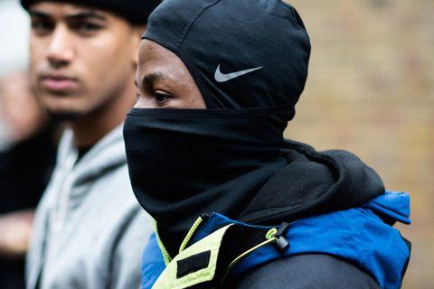 Man in Nike Balaclava