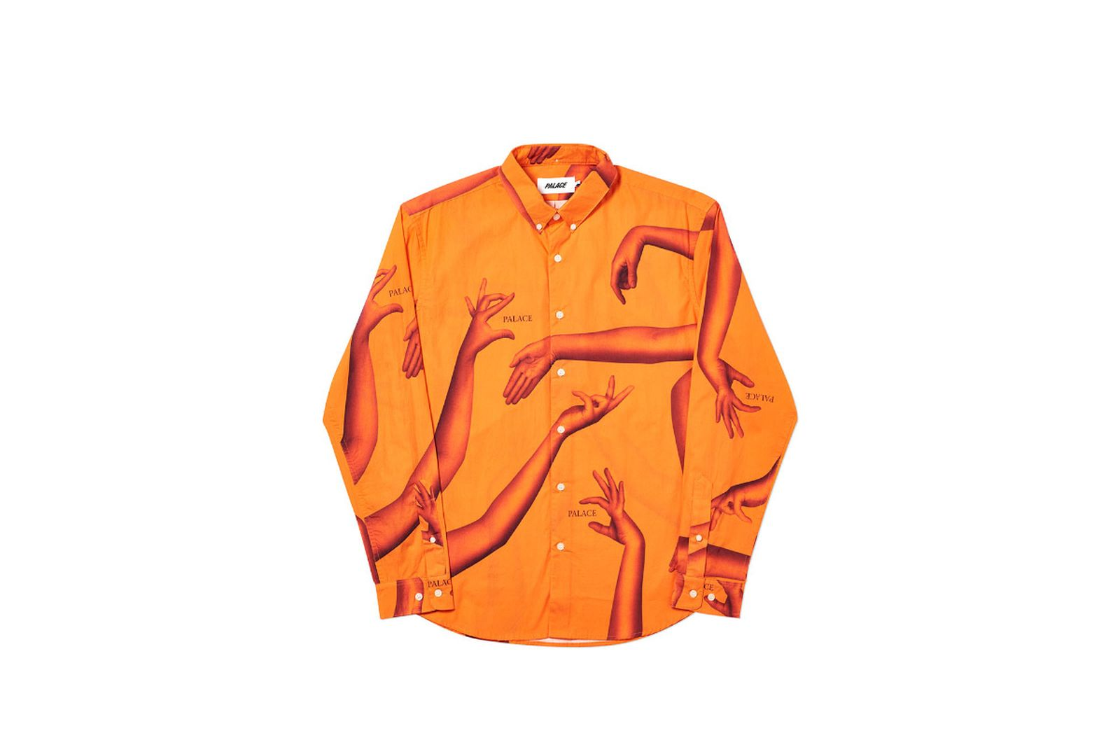 Palace 2019 Autumn Shirt Armbus orange front fw19