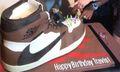 Kylie Jenner Gave Travis Scott a Birthday Cake of His Air Jordan 1 Collab