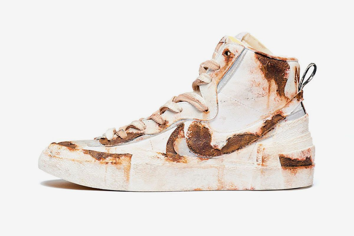 """Principe Privé Gives the sacai x Nike Blazer a """"Rusted"""" Makeover"""