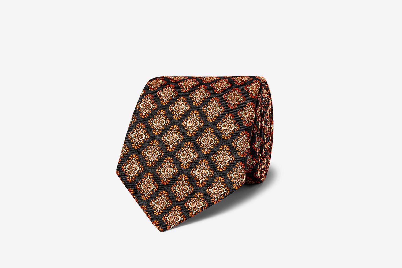 Turnbull & Asser Rocketman 8cm Silk-Jacquard Tie