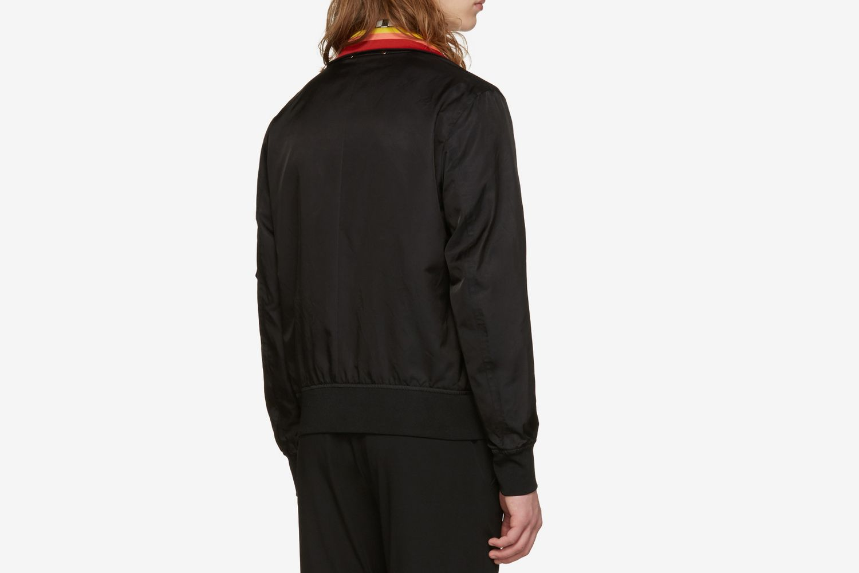 Striped Collar Bomber Jacket